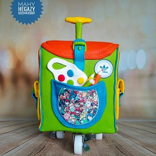 School bag cake - Cake by Mahy hegazy