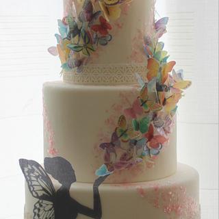 Butterflies kisses cake.