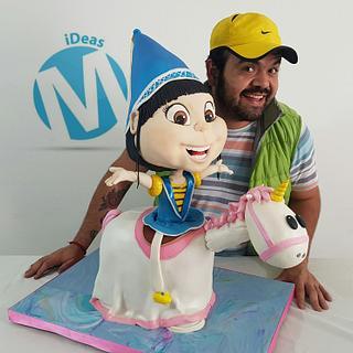 Agnes + unicorn 3d cake