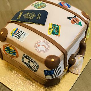 World Traveler Birthday Suitcase