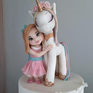 Girl with an unicorn