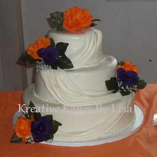 fondant swags wedding cake