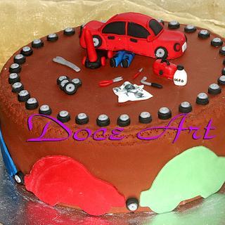 Car Mechanic Cake