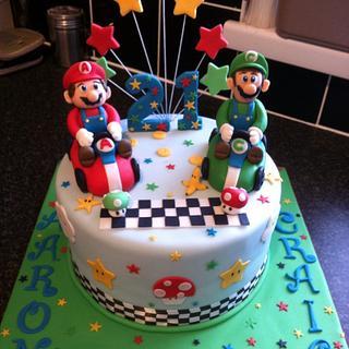 21st mario and luigi kart cake - Cake by Berns cakes