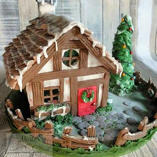 "CPC Christmas Collaboration ""Ginger bread house"""
