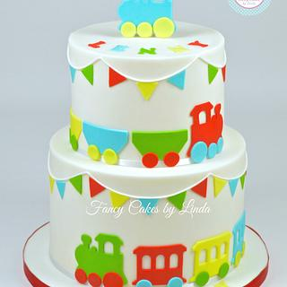 Children's Train Cake