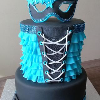 Cake with mask