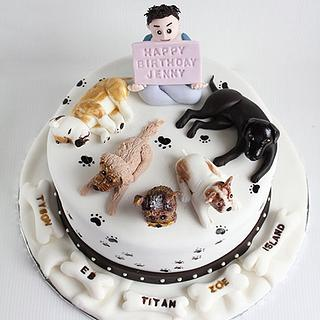 Dogs Birthday Cake