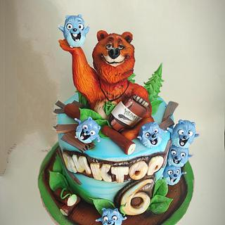 Grizzly and the lemmings - Cake by Tanya Shengarova