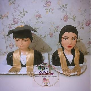 Graduation bust cake - Cake by Wafaa mahmoud