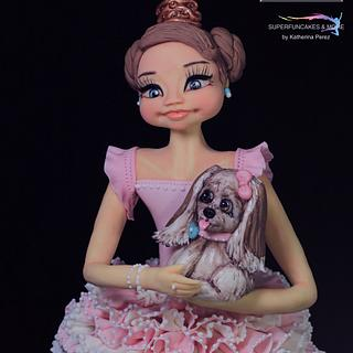 BALLERINA & HER PUPPIE - Pawfectly Dog-licious Collaboration