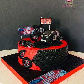 Car / tires cake