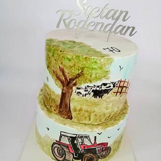 Hand-painted birthday cake - Cake by Tortebymirjana