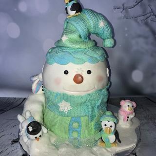 Snowman Fun Cake!