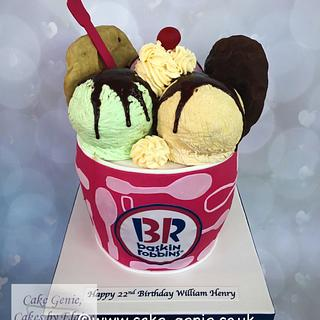 Baskin Robbins Ice Cream Sundae