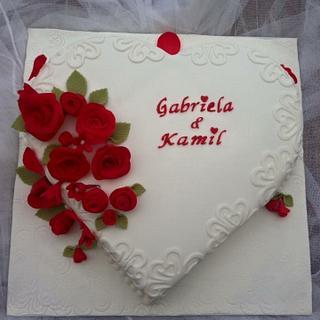 Engagement cake - Cake by Artycake