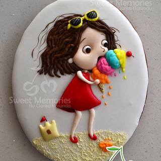 Summer Girl Cookie