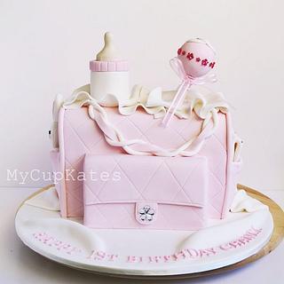 Light Pink Nappy Bag Cake