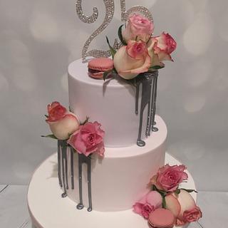 Anniversary cake - Cake by Aimee Gane-Pretty Scrumptious Cakes