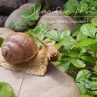 Sculpted grapewine snail - modelling chocolate
