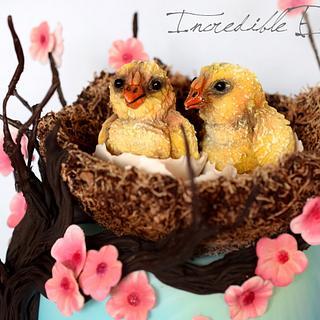 Spring Chick Cake!