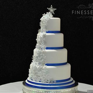 Snowflakes Wedding Cake