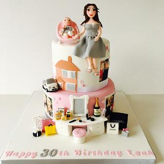 30th birthday favourite things cake  - Cake by The Rosebud Cake Company