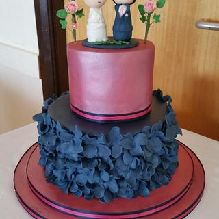 Cute Colourful Wedding Cake
