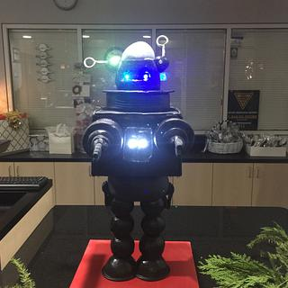 Robby the Robot groom's cake