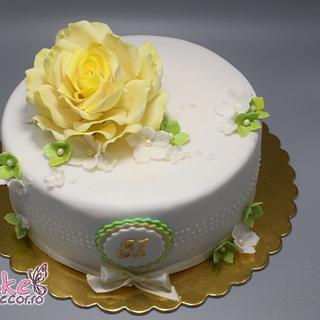 Delicate cake for a grandma