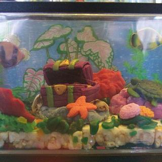 Edible Aquarium - Cake by Cheryl