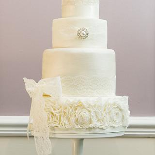 Sparkle white wedding