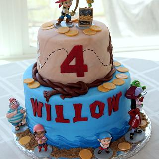Jake and the Neverland Pirates 4th Birthday Cake - Cake by Michelle