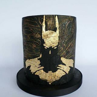 Golden Batman Silhouette