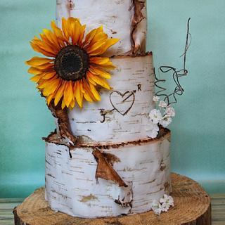 Weddingcake with Sunflower