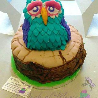 Owl go home with you - Cake by A Dash of Magic