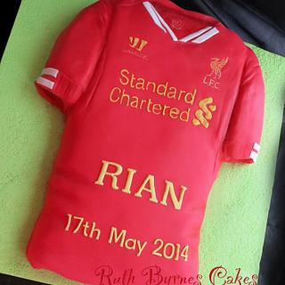 Liverpool Jersey cake - Cake by Ruth Byrnes