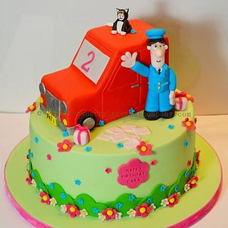 Postman Pat Cake - Cake by Strawberry Lane Cake Company