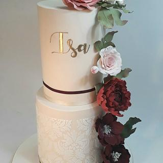 Lots of flowers for Isabella - Cake by Silvia Caballero