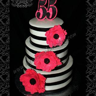 55th Anniversary Cake - Cake by Occasional Cakes