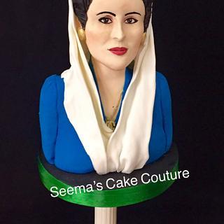 Benazir Bhutto - Spectacular Pakistan An International Sugar Art Collaboration