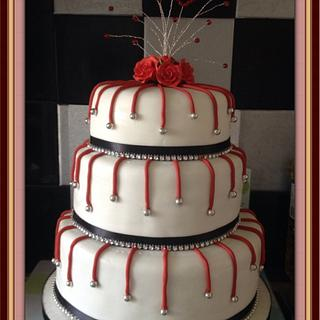 Valentines Wedding cake with a story ;)