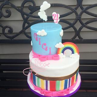 Rainbows and Clouds - Cake by Jolirose Cake Shop