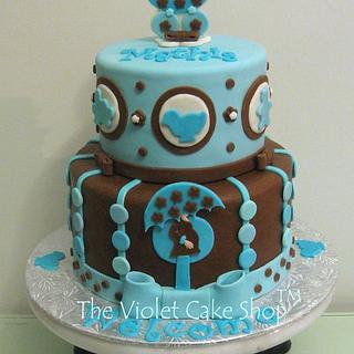 Turquoise & Chocolate Mod Mom Baby Shower
