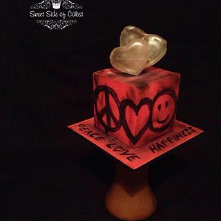 Peace Love Happiness - Cakes Against Violence