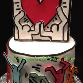 Keith Haring Pop Art Birthday Cake