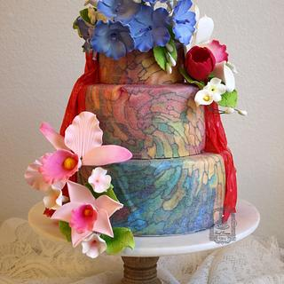 'World Cancer Day Sugarflowers and Cakes in Bloom' collaboration