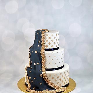 Dupatta wedding cake  - Cake by soods