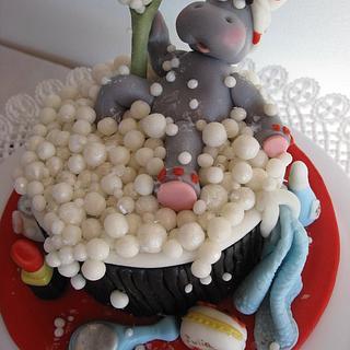 Bellezza al bagno....(Hippo in Spa...) - Cake by Silvia Costanzo