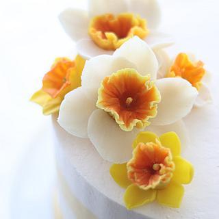 Bean Paste Daffodil cake  - Cake by Make Fabulous Cakes